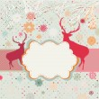 Stock Vector: Snowy retro christmas/winter background. EPS 8