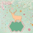 Christmas Invitation card template. EPS 8 — Stock vektor