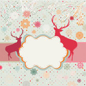 Snowy retro christmas/winter background. EPS 8 — Stock Vector