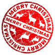 Merry Christmas stamp. EPS 8 — Stock Vector