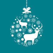 Blue and White Christmas ball. EPS 8 — Stock Vector