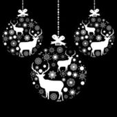 Black and White Christmas ball. EPS 8 — Stock Vector