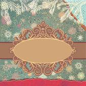 Carte stylisée de noël avec des flocons de neige. eps 8 — Vecteur