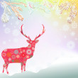 Christmas background with abstract reindeer. EPS 8 — Stock Vector