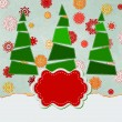 Vector de stock : Vintage Christmas card with tree. EPS 8