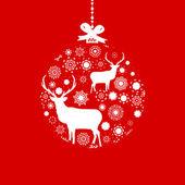 красное и белое рождество мяч. eps 8 — Cтоковый вектор