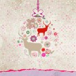 Stock Vector: Christmas deer card. EPS 8