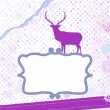 Stock Vector: Christmas card with deer. EPS 8