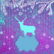 Stock Vector: Christmas deer tempate card. EPS 8