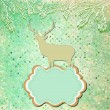 Christmas deer tempate card. EPS 8 — Stockvektor