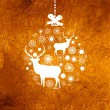 Christmas deer card. EPS 8 — Stock vektor