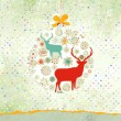 Royalty-Free Stock Vector Image: Christmas deer card. EPS 8