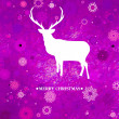 Royalty-Free Stock 矢量图片: Christmas deer tempate card. EPS 8