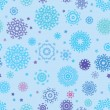 Seamless snowflakes background for winter. EPS 8 — Stock Vector