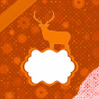 Stock Vector: Santa Claus Deer vintage Christmas card. EPS 8