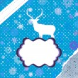 Christmas deer template card. EPS 8 — Stockvektor