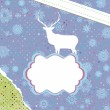 Christmas deer template card. EPS 8 — Vettoriali Stock