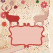 Royalty-Free Stock Vector Image: Christmas deer tempate card. EPS 8