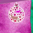 Royalty-Free Stock Vector Image: Purple and pink Christmas ball. EPS 8