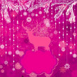Christmas deer tempate card. EPS 8 — 图库矢量图片