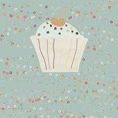 Cupcake valentine card. EPS 8 — Stock Vector