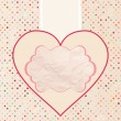 Valentine's card template. EPS 8 — Vector de stock