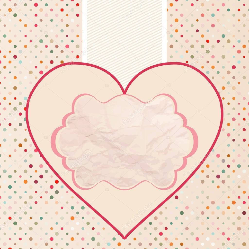 Valentine's card template. And also includes EPS 8 vector — Stock Vector #18250101