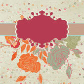 Tarjeta de san valentín corazón floral. eps 8 — Vector de stock