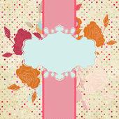 Floral heart valentine card. EPS 8 — Stockvektor