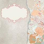 Cartão de dia dos namorados coração floral. Eps 8 — Vetor de Stock