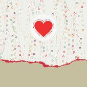 Heart frame. Valentine card. EPS 8 — Stock Vector