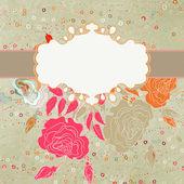 Carte de saint valentin coeur floral. eps 8 — Vecteur