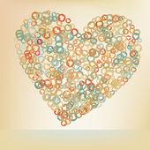 Orabge láska srdce. EPS 8 — Stock vektor