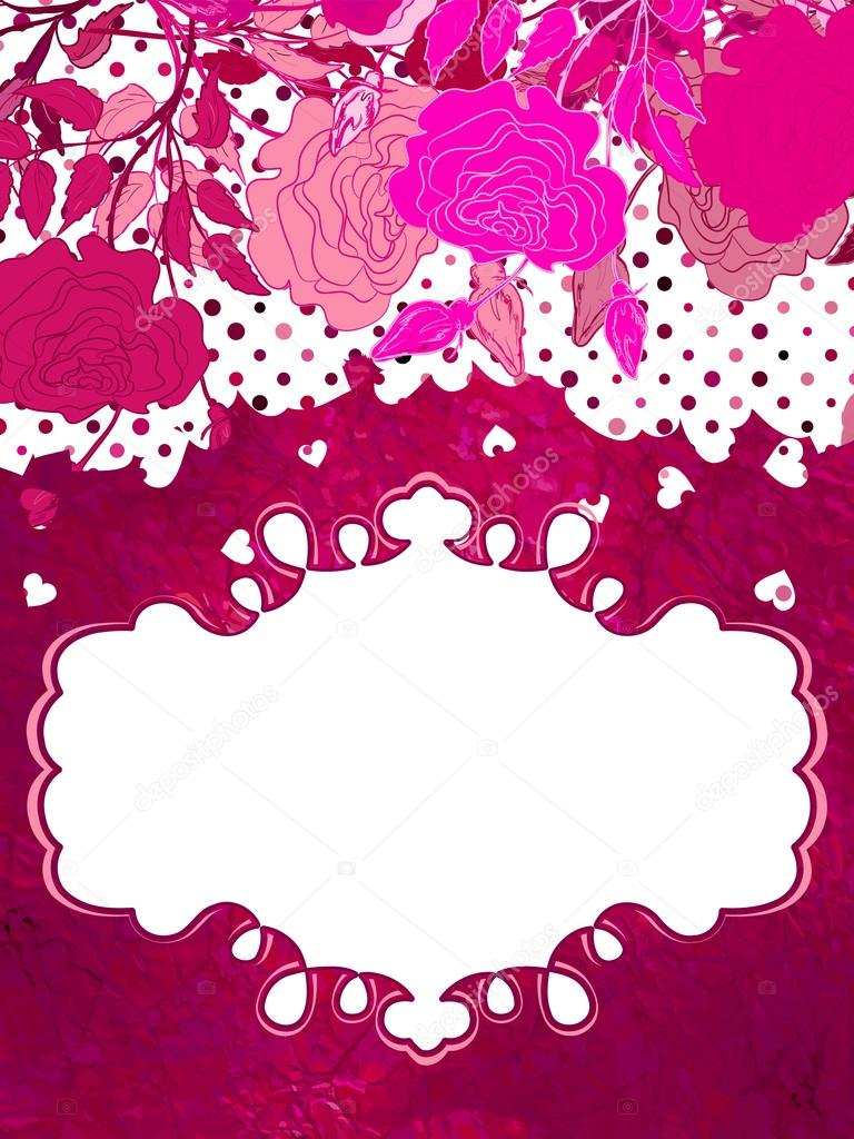 Background with glittering hearts and flower.  And also includes EPS 8 vector — Stock Vector #18705145
