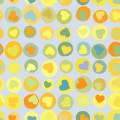 Fondo naranja corazones en beidge. eps 8 — Vector de stock