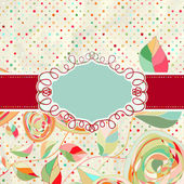 Vintage style background with flowers. EPS 8 — Stock Vector