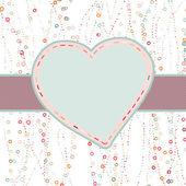 心とバレンタイン カード。eps 8 — ストックベクタ
