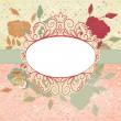 Vintage romantic background with roses. EPS 8 — Stock Vector