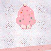 Cupcake por favor modelo de design. eps 8 — Vetor de Stock