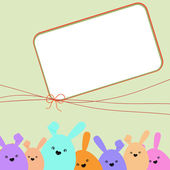 Colorful easter card with copy space. EPS 8 — Stock Vector