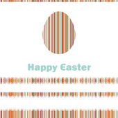 Postcard with Easter egg on colorful. EPS 8 — Stock Vector
