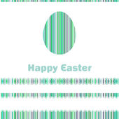 Postcard with Easter egg on colorful. EPS 8 — Stockvector