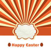 Easter eggs under rays — Stock Vector