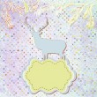 Royalty-Free Stock Obraz wektorowy: Christmas deer template card. EPS 8