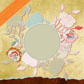 Retro flower background. EPS 8 — Stock Vector