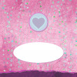 Royalty-Free Stock Imagen vectorial: Pink paper heart Valentines day card