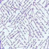 Matematik seamless mönster. eps 8 — Stockvektor
