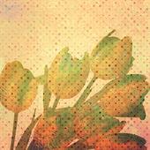 Modello di carta da parati vintage tulip. — Vettoriale Stock