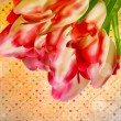 Background with beautiful tulip bouquet. EPS 10 — Stock Vector