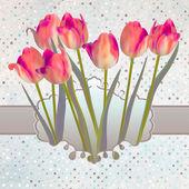 Decorazione telaio rosa ornato. eps 10 — Vettoriale Stock